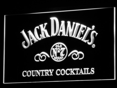 Jack Daniel's Country Cocktails LED Neon Sign - White - SafeSpecial