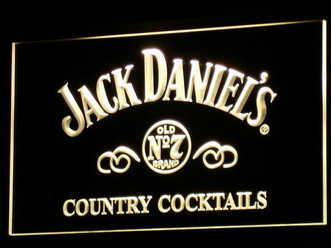 Image of Jack Daniel's Country Cocktails LED Neon Sign - Yellow - SafeSpecial