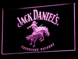Jack Daniel's Cowboy LED Neon Sign - Purple - SafeSpecial