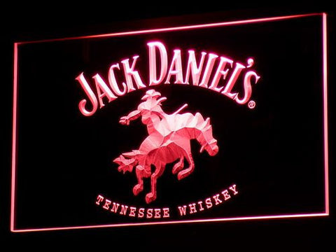 Jack Daniel's Cowboy LED Neon Sign - Red - SafeSpecial