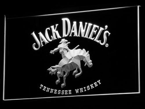 Jack Daniel's Cowboy LED Neon Sign - White - SafeSpecial