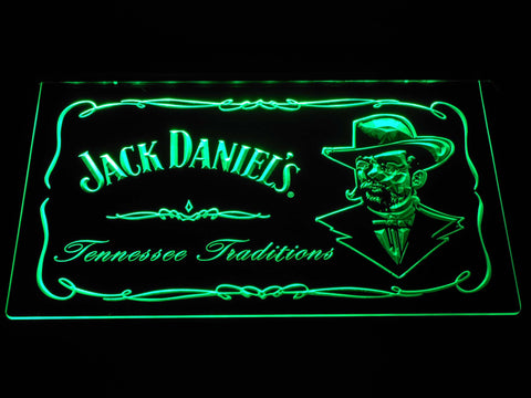 Image of Jack Daniel's Face LED Neon Sign - Green - SafeSpecial
