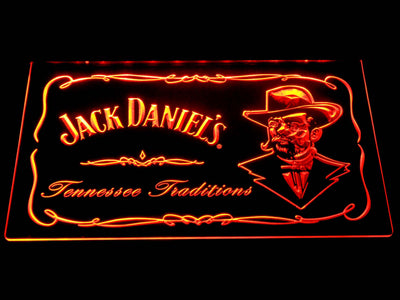 Jack Daniel's Face LED Neon Sign - Orange - SafeSpecial