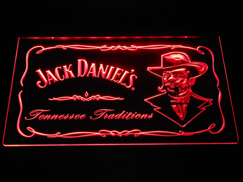 Image of Jack Daniel's Face LED Neon Sign - Red - SafeSpecial