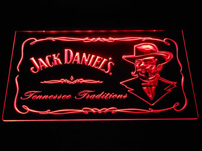 Jack Daniel's Face LED Neon Sign - Red - SafeSpecial