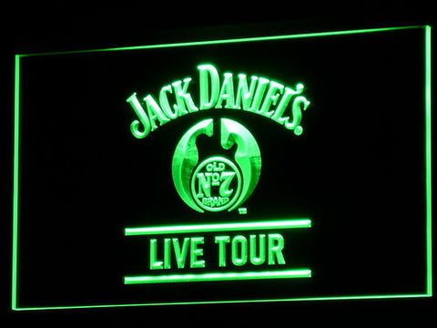 Image of Jack Daniel's Live Tour LED Neon Sign - Green - SafeSpecial