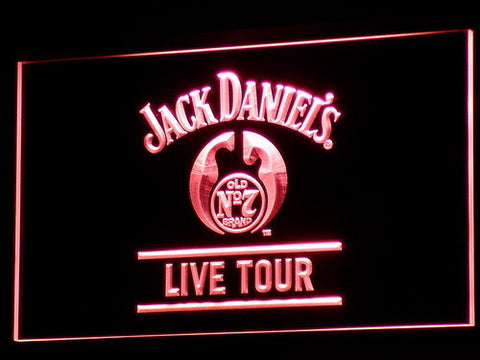 Image of Jack Daniel's Live Tour LED Neon Sign - Red - SafeSpecial