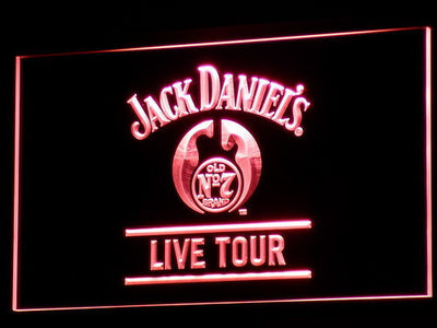 Jack Daniel's Live Tour LED Neon Sign - Red - SafeSpecial