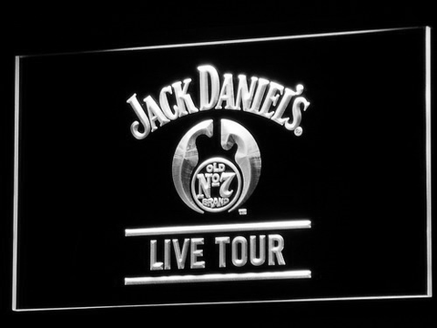 Image of Jack Daniel's Live Tour LED Neon Sign - White - SafeSpecial