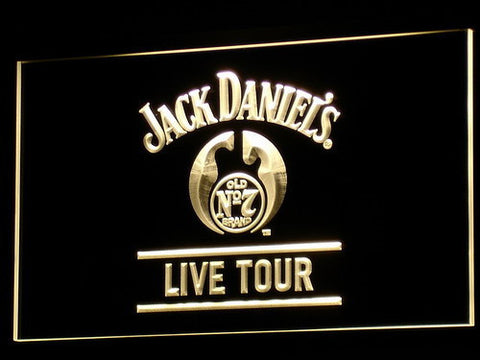 Image of Jack Daniel's Live Tour LED Neon Sign - Yellow - SafeSpecial