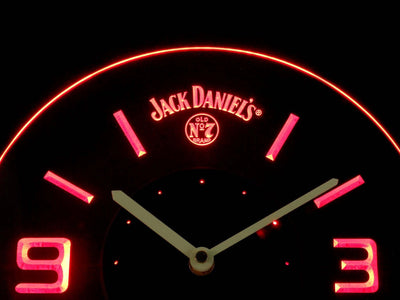 Jack Daniel's Old No. 7 Modern LED Neon Wall Clock - Red - SafeSpecial