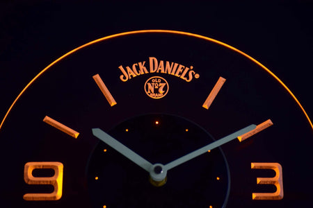 Jack Daniel's Old No. 7 Modern LED Neon Wall Clock - Yellow - SafeSpecial