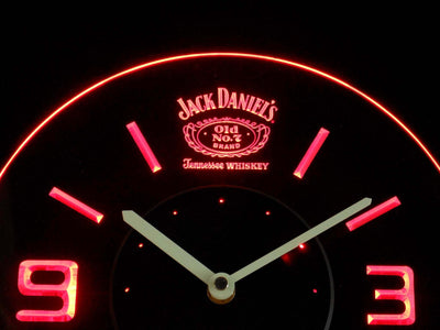 Jack Daniel's Old No. 7 Tennessee Modern LED Neon Wall Clock - Red - SafeSpecial