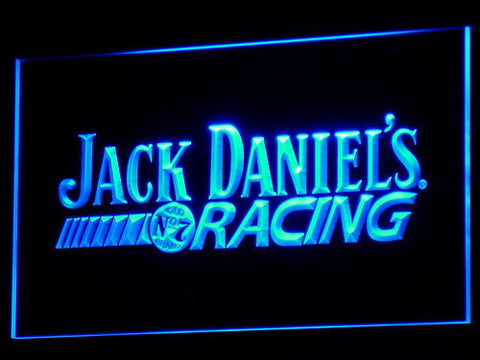 Image of Jack Daniel's Racing LED Neon Sign - Blue - SafeSpecial