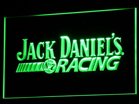 Image of Jack Daniel's Racing LED Neon Sign - Green - SafeSpecial