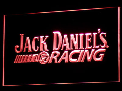 Jack Daniel's Racing LED Neon Sign - Red - SafeSpecial