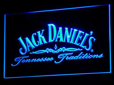 Jack Daniel's Tennessee Tradition LED Neon Sign - Blue - SafeSpecial