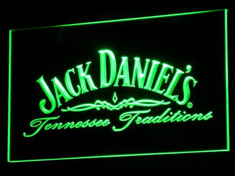 Image of Jack Daniel's Tennessee Tradition LED Neon Sign - Green - SafeSpecial