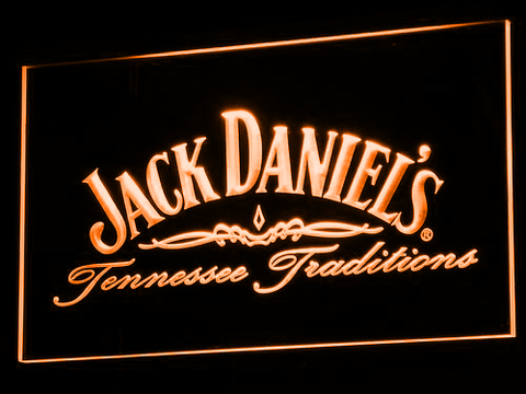 Image of Jack Daniel's Tennessee Tradition LED Neon Sign - Orange - SafeSpecial