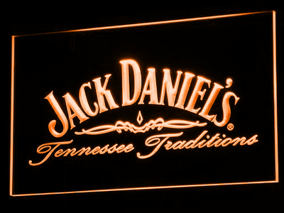 Jack Daniel's Tennessee Tradition LED Neon Sign - Orange - SafeSpecial