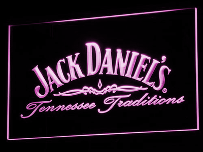 Jack Daniel's Tennessee Tradition LED Neon Sign - Purple - SafeSpecial