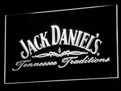 Jack Daniel's Tennessee Tradition LED Neon Sign - White - SafeSpecial