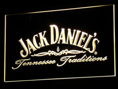 Jack Daniel's Tennessee Tradition LED Neon Sign - Yellow - SafeSpecial