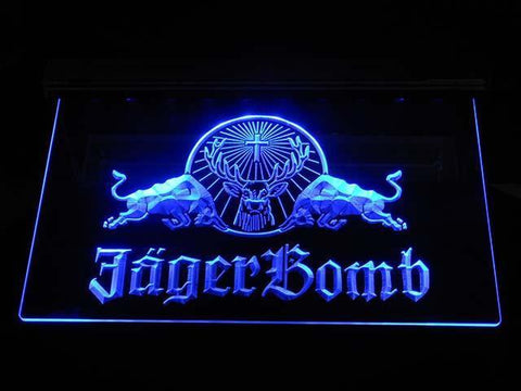 Image of Jagermeister JagerBomb LED Neon Sign - Blue - SafeSpecial
