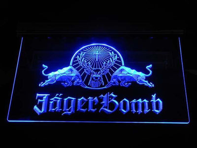 Jagermeister JagerBomb LED Neon Sign - Blue - SafeSpecial