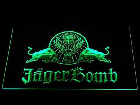 Image of Jagermeister JagerBomb LED Neon Sign - Green - SafeSpecial