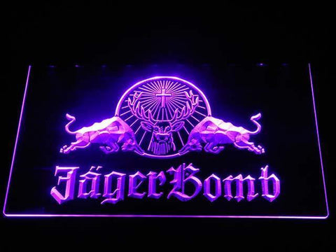Image of Jagermeister JagerBomb LED Neon Sign - Purple - SafeSpecial
