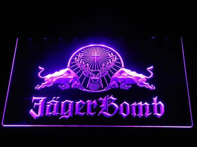 Jagermeister JagerBomb LED Neon Sign - Purple - SafeSpecial