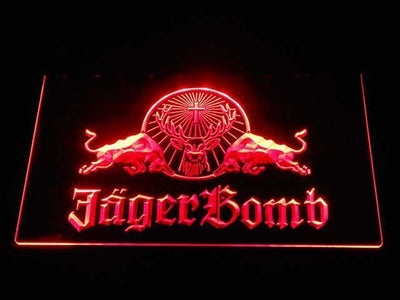 Jagermeister JagerBomb LED Neon Sign - Red - SafeSpecial