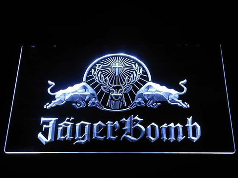 Image of Jagermeister JagerBomb LED Neon Sign - White - SafeSpecial