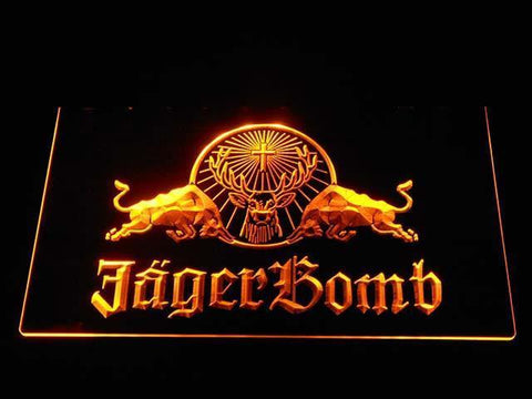 Image of Jagermeister JagerBomb LED Neon Sign - Yellow - SafeSpecial
