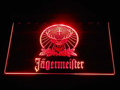 Jagermeister LED Neon Sign - Red - SafeSpecial
