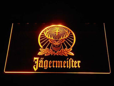 Jagermeister LED Neon Sign - Yellow - SafeSpecial