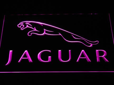 Jaguar LED Neon Sign - Purple - SafeSpecial