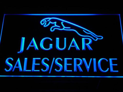 Jaguar Sales and Service LED Neon Sign - Blue - SafeSpecial