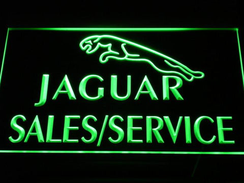 Jaguar Sales and Service LED Neon Sign - Green - SafeSpecial