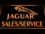 Jaguar Sales and Service LED Neon Sign - Orange - SafeSpecial