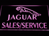 Jaguar Sales and Service LED Neon Sign - Purple - SafeSpecial