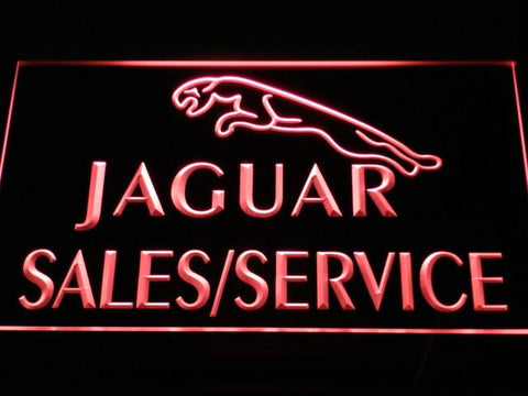 Jaguar Sales and Service LED Neon Sign - Red - SafeSpecial