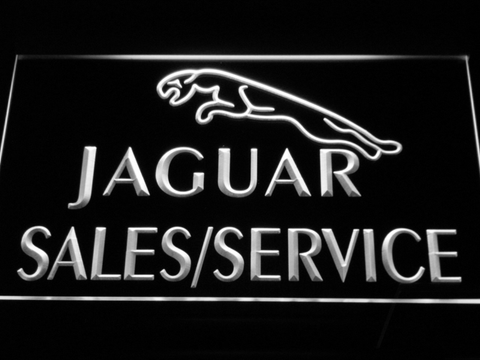 Jaguar Sales and Service LED Neon Sign - White - SafeSpecial