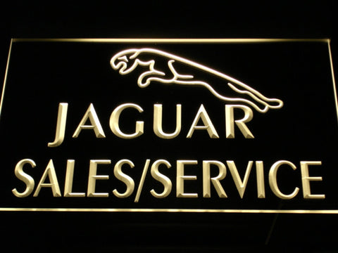 Jaguar Sales and Service LED Neon Sign - Yellow - SafeSpecial