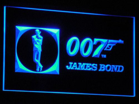 Image of James Bond 007 LED Neon Sign - Blue - SafeSpecial