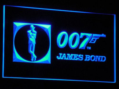 James Bond 007 LED Neon Sign - Blue - SafeSpecial