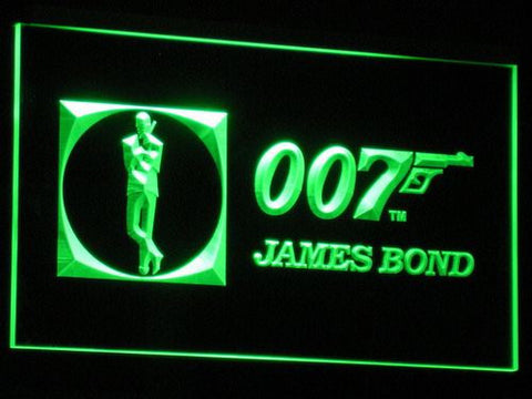 Image of James Bond 007 LED Neon Sign - Green - SafeSpecial