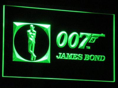 James Bond 007 LED Neon Sign - Green - SafeSpecial