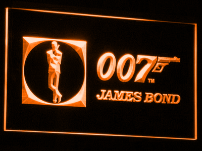James Bond 007 LED Neon Sign - Orange - SafeSpecial